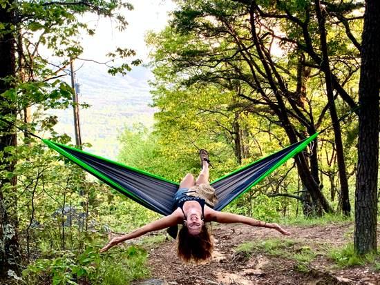 April in hammock for wellness